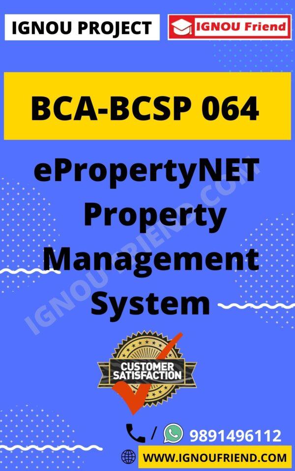 ignou-bca-bcsp064-synopsis-only- ePropertyNET Property Management System