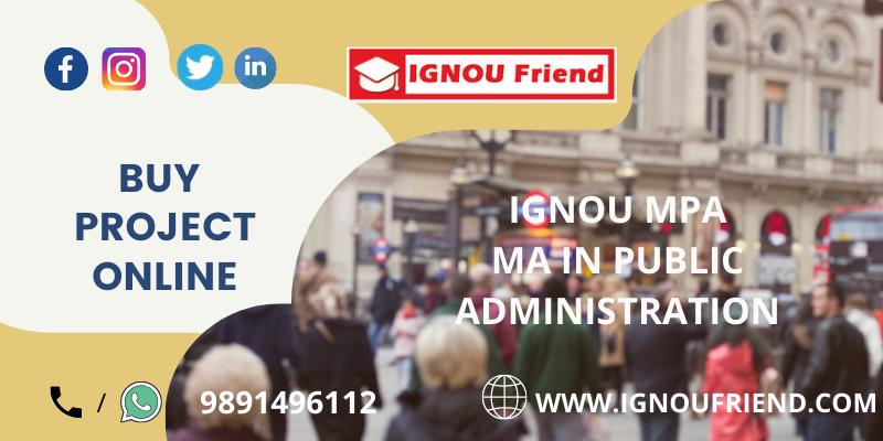 IGNOU (MPA) MA IN PUBLIC ADMINISTRATION