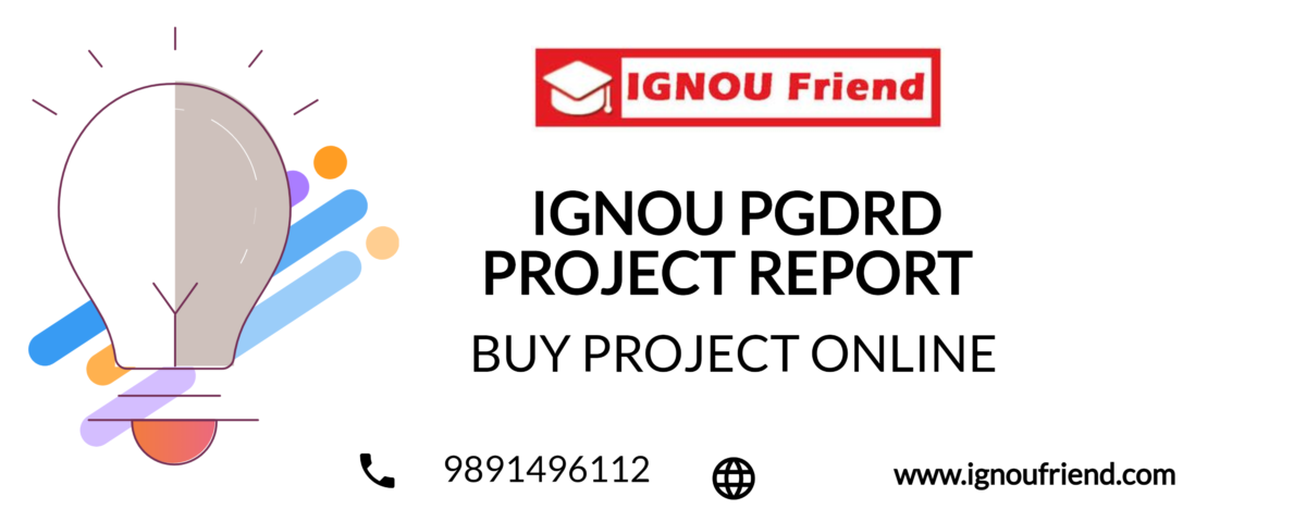 IGNOU PGDRD PROJECT REPORT