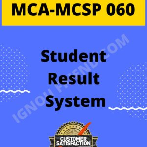 Ignou MCA MCSP-060 Complete Project, Topic - Student Result Management system