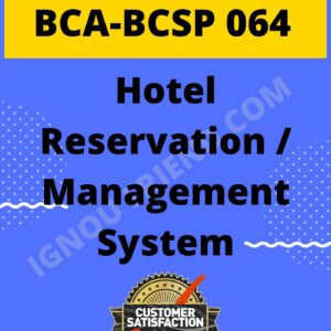 Ignou-BCA-BCSP-064-Complete-Project-Topic-Billing-Management-system