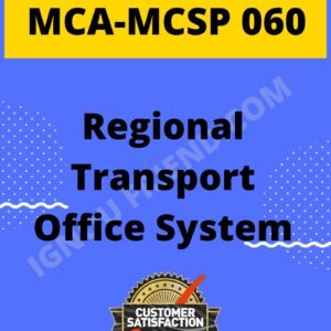 Ignou MCA MCSP-060 Complete Project, Topic - Regional Transport Office system, Platform-PHP, MySQL, Apache