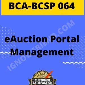Ignou BCA BCSP-064 Complete Project, Topic - eAuction Portal Management System