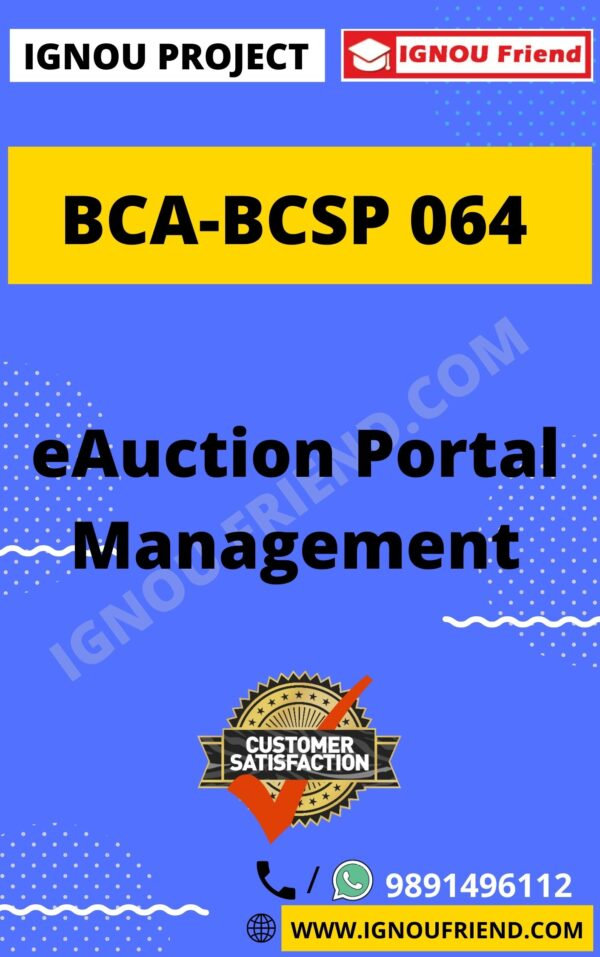 ignou-bca-bcsp064-synopsis-only- eAucation Portal Management System