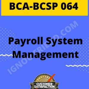 Ignou BCA BCSP-064 Complete Project, Topic- Topic - Payroll Management system