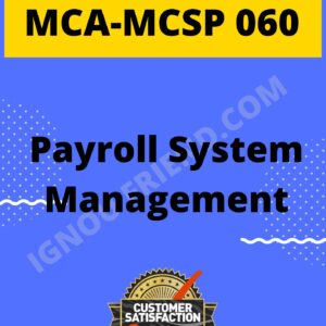 Ignou MCA MCSP-060 Complete Project, Topic - Payroll Management system
